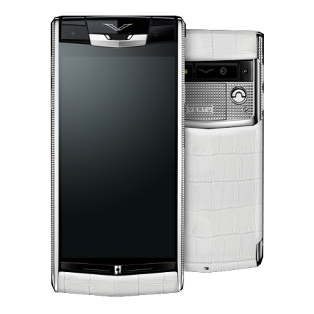 Vertu Signature Touch Clous de Paris WHITE ALLIGATOR (MTO)