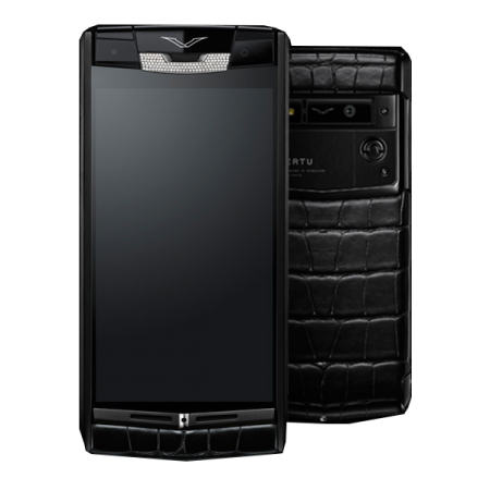 (!Новинка!) Vertu Signature Touch Pure Jet Alligator Diamonds