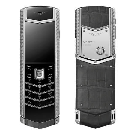 Vertu Signature S Design Clous De Paris ALLIGATOR (MTO)