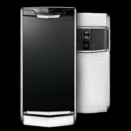 Vertu Signature Touch White Alligator