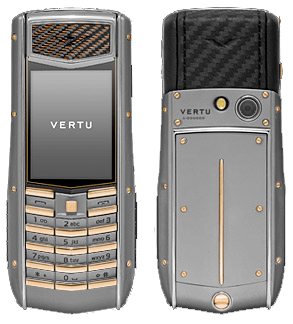 VERTU ASCENT TI CARBON FIBRE YELLOW GOLD KEYS